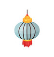 color chinese lantern of round shape decorative vector image vector image