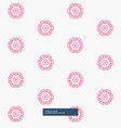 cute pink flower pattern background vector image vector image