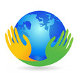 earth world peace unity love icon vector image