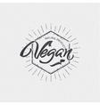 Eco friendly bio vegan -poster stamp badge vector image vector image