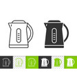 electric kettle simple black line icon vector image