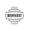 emblem of workout club vector image vector image