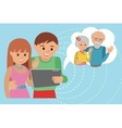Family flat style social media vector image vector image