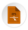 file eps icon circle vector image vector image