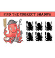find the correct shadow anchor with octopus vector image