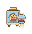 fireplaces rgb color icon vector image