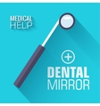 flat medical dental mirror background conce vector image vector image