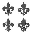 fleur de lis heraldic flower symbol vector image