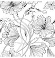 floral seamless pattern flower lily bouquet vector image vector image