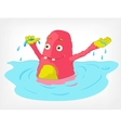 Funny Monster Swimmer vector image vector image