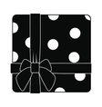 Gift box with ribbon icon vector image vector image