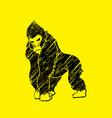 gorilla king kong angry big monkey graphic vect vector image vector image