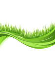 Green grass nature wave background vector | Price: 1 Credit (USD $1)
