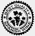 Grunge stamp quality label for Spanish wine vector image vector image