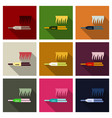 hair straightening iron isolated on background vector image