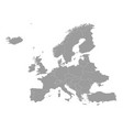 high quality map europe with borders the vector image