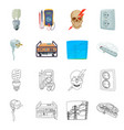 isolated object of electricity and electric sign vector image vector image
