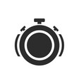 isolated stopwatch icon time over sound on a vector image