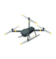 isometric electric wireless rc quadcopter drone vector image vector image