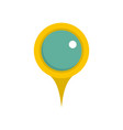 locate pin icon flat style vector image