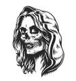 mexican dia de los muertos concept vector image vector image