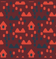 nordic village seamless pattern vector image