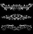 ornamental dividers decorative filigree design vector image vector image
