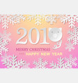 paper pig with count symbol of new year unusual vector image vector image