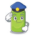 police soft drink character cartoon vector image vector image