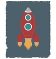 retro design poster rocket vector image