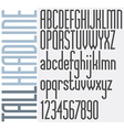 Retro Stripes font vector image vector image