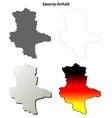 Saxony-Anhalt blank outline map set vector image vector image