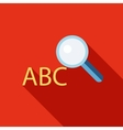 Search dictionary icon flat style vector image vector image