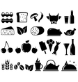 set food objects vector image vector image