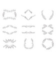 set of floral frames and wreaths with plant vector image vector image