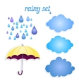 set of icons for your rain vector image vector image