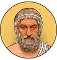 sophocles line art portrait vector image vector image