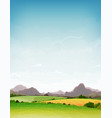 spring and summer nature landscape vector image vector image