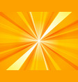 sunburst background yellow abstract rays pattern vector image vector image
