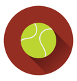 Tennis ball icon vector image vector image
