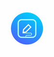 the icon symbolizes data entry with the stylus vector image vector image