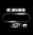 top view of casino sign and poker dice on vector image