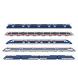 trains railway wagon metro rail subway transport vector image