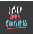 Unique Christmas Lettering vector image vector image