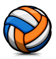 volleyball ball cartoon isolated vector image vector image