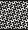 wavy lines seamless sea art pattern vector image