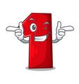 wink number one index finger on cartoon vector image