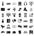 wireless communication icons set simple style vector image vector image