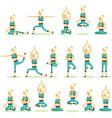 Women posing pose yoga vector image vector image