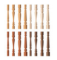 wooden balustrade pillar set cartoon brown